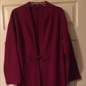Burgundy knit jacket